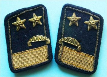 Collar Tab with stars, unknown for me, badge cross WW2