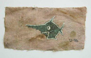 Rare German WW2 Kriegsmarine Navy U-boat 9th Flotilla's sawfish Armband, badge