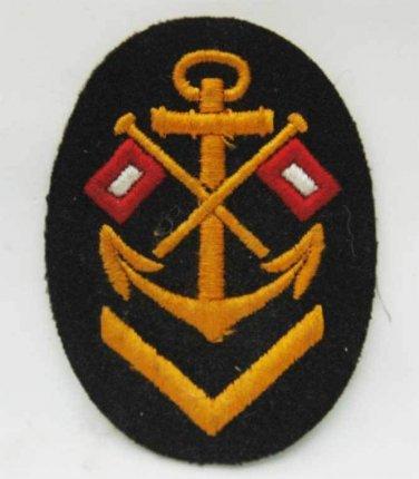 German WW2 Kriegsmarine shield for signal sailor, badge, cap, medal