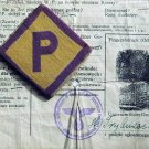 Extremely rare German WW2 patch w. letter P for Polish worker + ID document