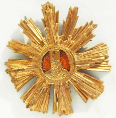 rare GOLD star - WW2 Romanian breast order of Tudor Vladimirescu