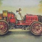 Original Vintage old pictures of automobile NAPIER 1900, photo car, badge