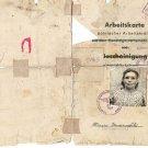 German WW2 Arbeitskarte for Polish worker with Fingers stamp, 1940