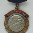 Russian USSR sport badge CANOE hot enamel, medal order