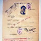 Extremely Rare WW2 Jews HOLOCAUST VISA DOCUMENT, stamped 1939