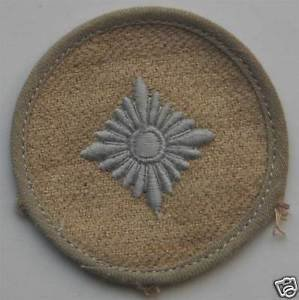 German WW2 sleeve rank pip from German Africa corpus, badge