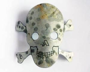German WW2 Badge with Skull & Bones for Helmet M35 Stahlhelm, Soldier Art Trench