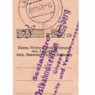 Rare German WW2 Receipt for Pension Payment for Citizen on Occupied Territory