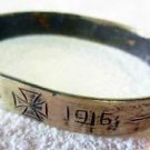 German WW1 Bracelet with Iron Cross, SOLDIERs Trench ART, 1915 - 1916