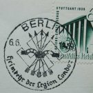 German WW2 postcard with original stamp LEGION CONDOR, 1939