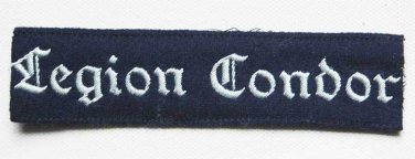 German WW2 Luftwaffe Legion Condor Cuff Title � KG 53, badge