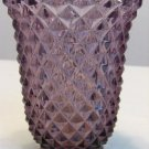 RARE LAVENDER PURPLE HOBNAIL GLASS VASE MARKED IMPERIAL GLASS VINTAGE