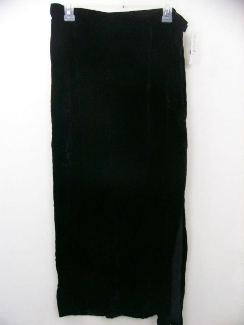 NWT RAFAELLA BLACK VELVET SKIRT SIZE LARGE LONG NEW WITH TAGS RETAIL $60 HOLIDAY