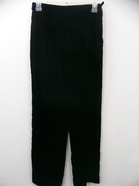 TALBOTS PETITES BLACK VELVET PANTS SLACKS SIZE 2 PERFECT FOR THE HOLIDAYS!