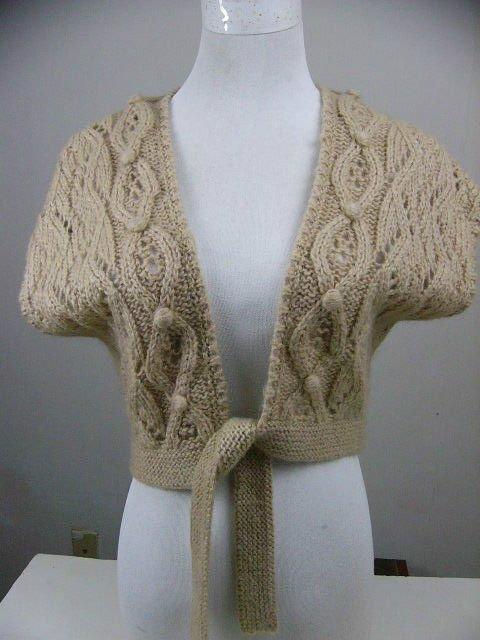 Gorgeous ANN TAYLOR Loft Sweater Shrug S  Alpaca Mohair Blend Crop Tie Front