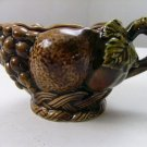 Vintage Retro Mid Century Inarco Japan Brown Fruit Creamer gravy bowl E-2912