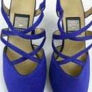 NINA PURPLE PUMPS SLING BACK SHOES STRAPPY SIZE 8 WORN ONCE W/BOX 'KATHYNA'