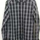 MENS BUTTON DOWN GAP SHIRT SIZE SMALL BLACK WHITE STRIPE LONG SLEEVE COTTON