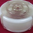 VTG HANGING ART DECO MILK CLEAR GLASS CEILING LIGHT FIXTURE COVER SHADE DOME