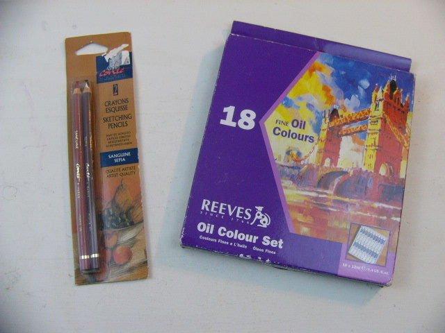 Reeves Oil Colour Paint Art Set 18 Colours/Colors & 2 sketch pencils*Brand New**