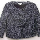 ANN TAYLOR PETITES BLACK AND WHITE CAREER EVENING LINED JACKET SIZE 4P