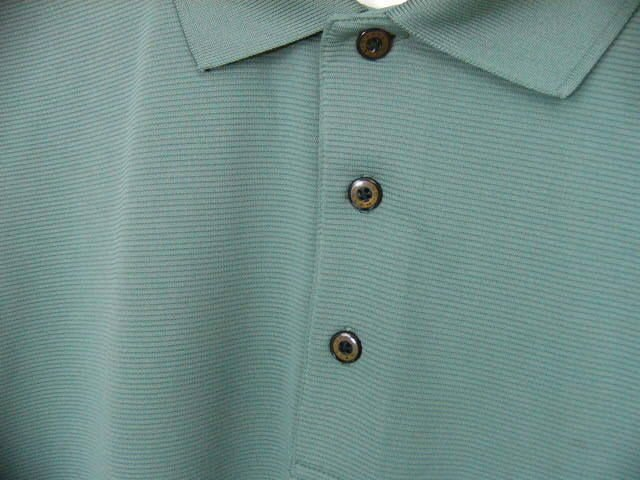NEW Grand Slam Mens Golf Green Polyester Polo Shirt Large NWOT