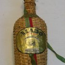Antique Vintage Demijohn Wicker Covered ALADO LISBON WINE BOTTLE 1940