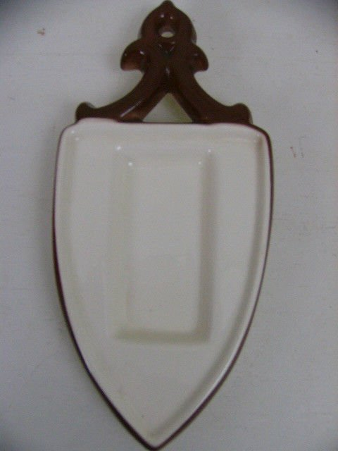 Vintage Brock Of California Pottery Country Lane Spoon Rest trivet RARE PIECE!