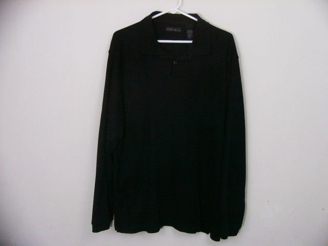 PERRY ELLIS MENS BASIC BLACK PULLOVER SHIRT SWEATER LONG SLEEVE SIZE XL