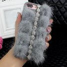 iPhone 6 or iPhone 6s DIY Furry Fur Bling Rhinestone Crystal Elegant Phone Case Cover