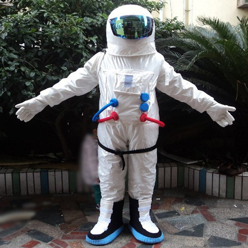 ADULT SIZE MEDIUM Astronaut Space Man Mascot Costume Halloween Costume Kid Birthday Party Costumes