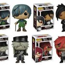 Set of 4 FUNKO Black Butler POP! Animation Sebastian, Ciel, Grell, & Undertaker Figures Hot Topic Ex