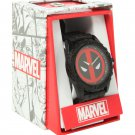 Marvel Deadpool Logo Watch - Black & Red