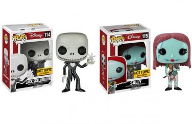 Funko POP! Set of 2 Disney Nightmare Before Christmas Jack Skellington & Sally Figures Hot Topic