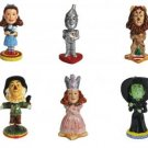 Complete Set of 6 Collectible Wizard of Oz Mini Bobble Figurines