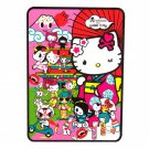 "Retired tokidoki x Sanrio Hello Kitty Kimono 78.75"" x 55.25"" Plush Fleece Throw Blanket"