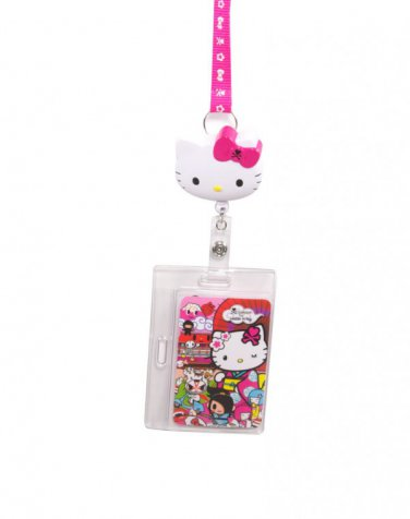 tokidoki x Sanrio Hello Kitty Kimono Key Leash ID Badge Reel