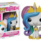 Funko My Little Pony POP! Princess Celestia #08 (Glitter Mane) Vinyl Figure Hot Topic Exclusive