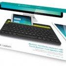 Logitech K480 Bluetooth Wireless Multi-Device Keyboard For PC or Mac, Black