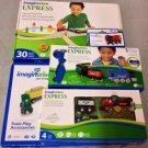 Lot of 5 Imaginarium Express R/C + Figure 8 Wooden Train Set, Train Accessories, Power Steam Engine