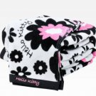 Retired Hello Kitty Bath Towel & Shower Cap: Blossom Colllection By Sanrio