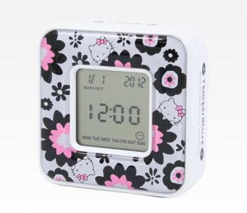 Hello Kitty Digital Alarm Clock: Blossom Collection By Sanrio