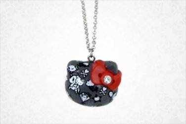 Limited Edition tokidoki x Hello Kitty Die-Cut Pendant Necklace: Black