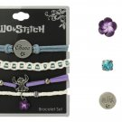 Set of 2 - Disney Lilo & Stitch Ohana Bracelet 4 Pack & Earring Set 3 Pair