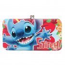 Disney Lilo & Stitch Hibiscus Kisslock Hinge Wallet