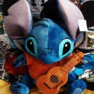 "Retired Disney Store Hawaii Disney Lilo & Stitch 15"" Stitch Plush Doll with Aloha Shirt & Ukulele"