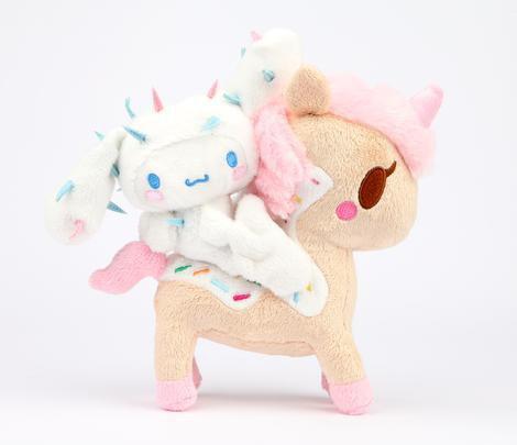 "tokidoki x Sanrio Characters 8"" Unicorno Mascot Plush Cinnamoroll & DolceCactus Friend"