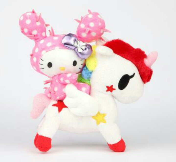 "tokidoki x Sanrio Characters 8"" Mascot Plush Hello Kitty & Stellina Cactus Friend Unicorno"