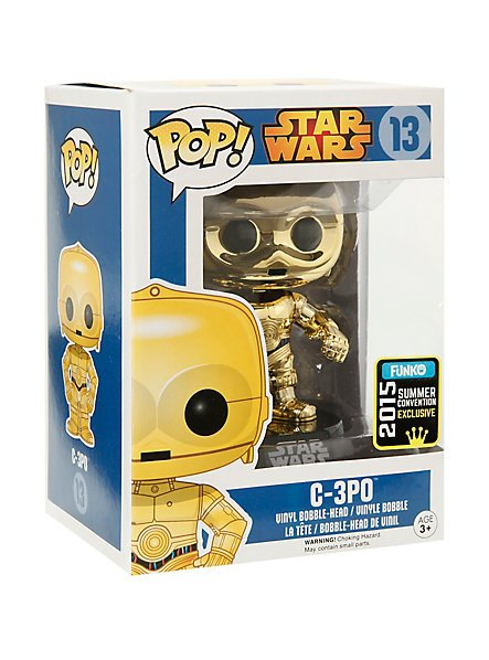 FUNKO Star Wars Pop! Gold C-3PO Vinyl Bobble-Head 2015 SDCC Summer Convention Exclusive