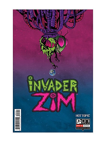 New Oni Press Invader Zim Comic Issue #1 Hot Topic Variant Cover